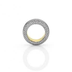 18ct Two Tone Diamond Ring