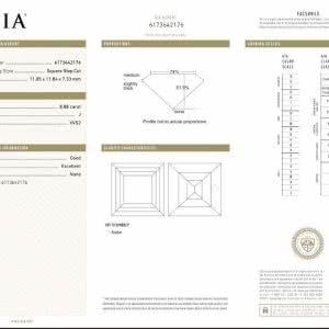 8.88ct J VVSI1 Carre Cut Diamond Pair GIA